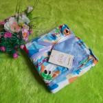 selimut carter double fleece bayi motif piknik biru