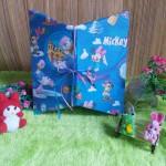 kemasan kado, bungkus kado, tas souvenir, tas kado, paper bag, gift bag DASI MICKEY MOUSE BIRU