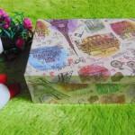 kotak kado giftbox kemasan kado motif menara eiffel paris serie-A