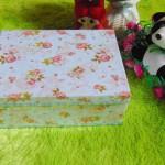kotak kado giftbox kemasan kado motif shabby chic biru serie-A