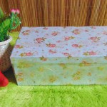 kotak kado giftbox kemasan kado motif shabby chic biru serie-C