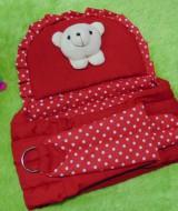 TERLARIS gendongan bayi samping menyamping praktis boneka polka merah 46 muat untuk bayi newborn 0-18 bulan,juga cocok sebagai kado