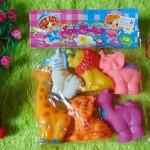 kado bayi murah set 6in1 pencetan bayi motif binatang vinyl karet