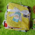 selimut bayi carter double fleece lembut hangat motif yellow sports