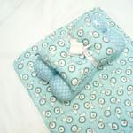 EKSKLUSIF Kado Bayi Baby Bedding Set 4in1 Matras Perlak Set Bantal Peang Plus 2 Guling motif Singa Biru