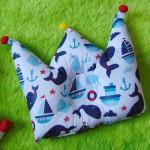 Kado bayi Bantal mahkota crown pillow bantal peyang Peang bayi baby motif paus laut