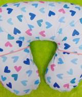 Kado Lahiran Bayi Terbaik Bantal Menyusui atau Nursing Pillow motif white love