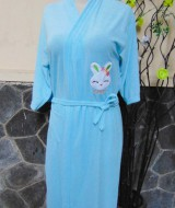 kimono handuk jubah mandi dewasa JUMBO biru muda