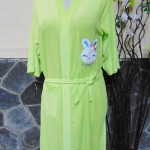 Kimono handuk jubah mandi dewasa JUMBO hijau muda