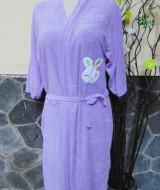 kimono handuk jubah mandi dewasa JUMBO ungu