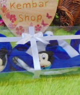 FREE KARTU UCAPAN hadiah lahiran kado bayi baby gift set topi sepatu newborn new born 0-6bulan motif mickey mouse