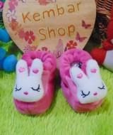 foto utama kado bayi baby gift set sepatu prewalker alas kaki newborn 0-6bulan lembut motif kelinci syantik
