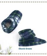 kado sepatu bayi prewalker baby newborn 0-6bulan booties cuddleme motif Check Green