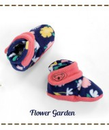 kado sepatu bayi prewalker baby newborn 0-6bulan booties cuddleme motif Flower garden