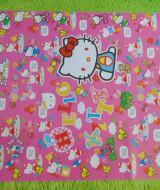 sampul kado bayi kertas kado lahiran baby gift motif Hello Kitty Pink