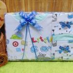FREE KARTU UCAPAN Kado Lahiran Paket Kado Bayi Newborn Baby Gift Box romper topi slaber mom and little cow Aneka Warna