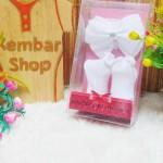 paket kado bayi set kaos kaki bayi newborn perempuan baby girl cantik CARTER PREMIUM plus headband kado SNI