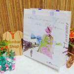 tas kado hadiah serbaguna besar muat banyak motif lavender