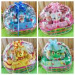 FREE KARTU UCAPAN Parcel Kado Bayi Jaket Sepatu Boneka Karakter Doraemon Hello Kitty