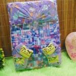 FREE KARTU UCAPAN TERMURAH COD Paket Kado Bayi Perempuan Baby Gift Set Girl Dress Sock Turban Random