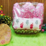 FREE KARTU UCAPAN Paket Parcel Kado Bayi Baru Lahir Oval Selimut Double Fleece Bantal Mahkota